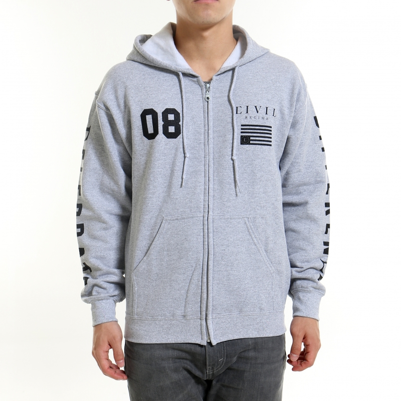 [$ SHOP SALE] [CIVIL] REGIME ZIP UP HOODIE (Gray)