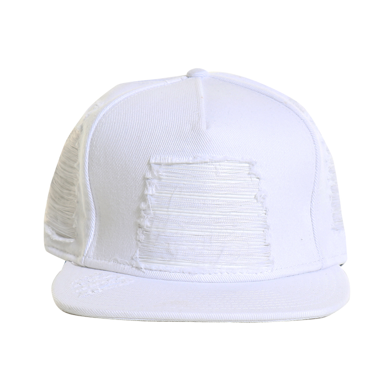 [CIVIL] WHITE DENIM LEATHER BIKER STRAPBACK