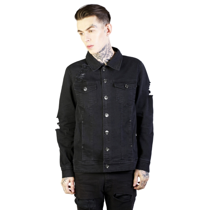 [DISTURBIA] NOIR DENIM JACKET