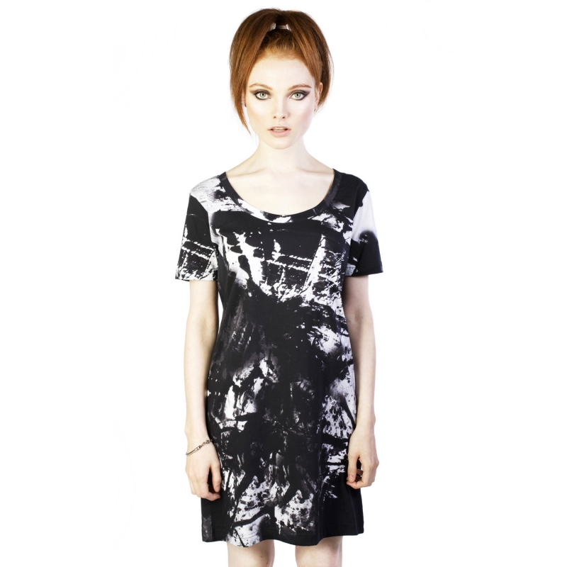 [$ SHOP SALE] [DISTURBIA] BLEACH TEE DRESS