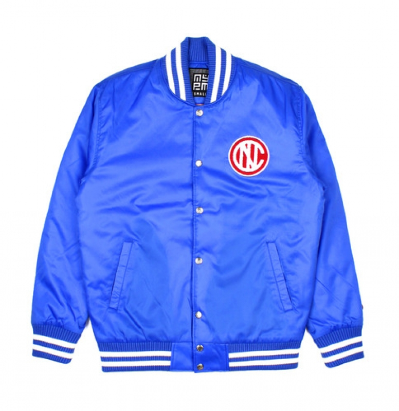 [NASTY PALM] NASTY KICK VARSITY JACKET (BLUE)
