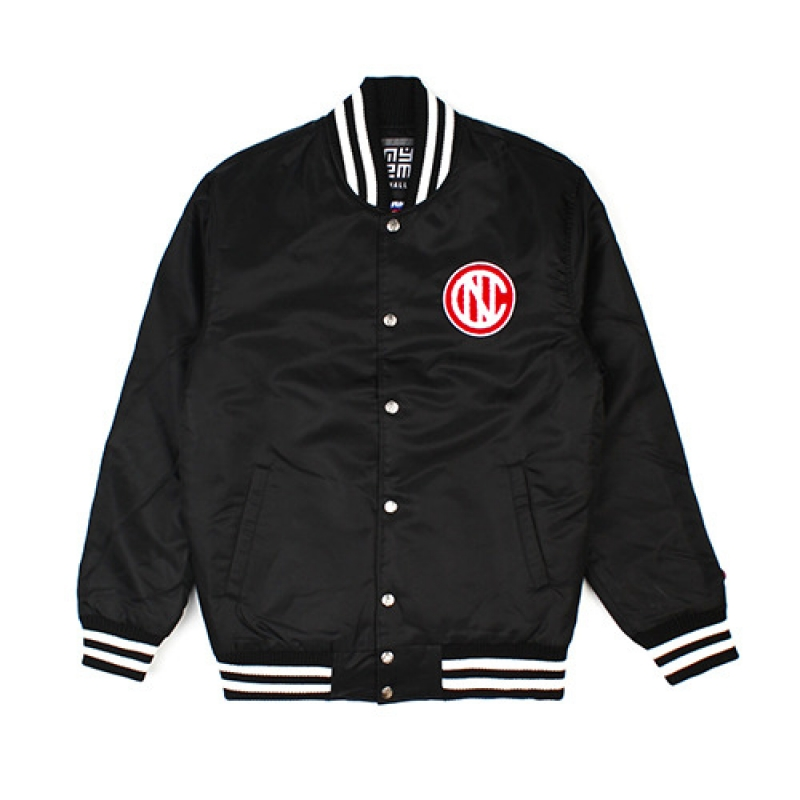 [NASTY PALM] NASTY KICK VARSITY JACKET (BLK)