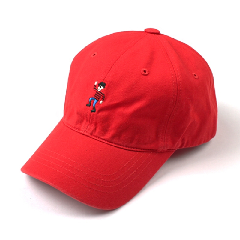 [MARCH WITH] DANCING MAN 6P CURVED BALL CAP RED