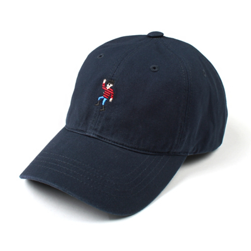 [MARCH WITH] DANCING MAN 6P CURVED BALL CAP Navy