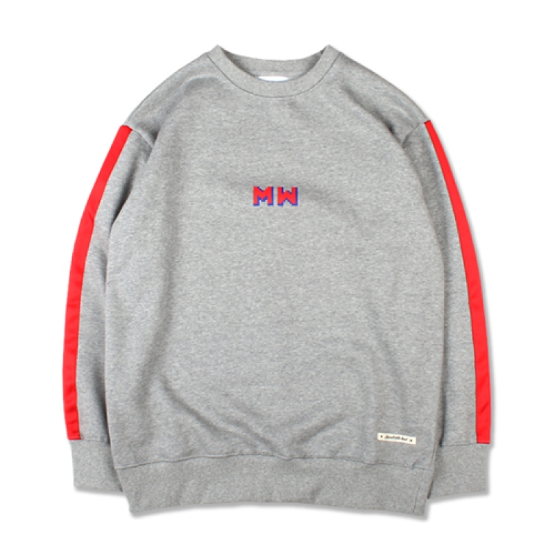 [MARCH WITH] TAPED SLEEVE SWEATSHIRT GRAY