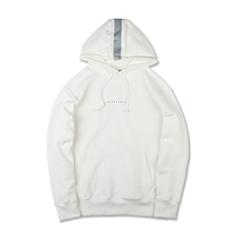 [MARCH WITH] REFLECTOR HOODIE OFF WHITE