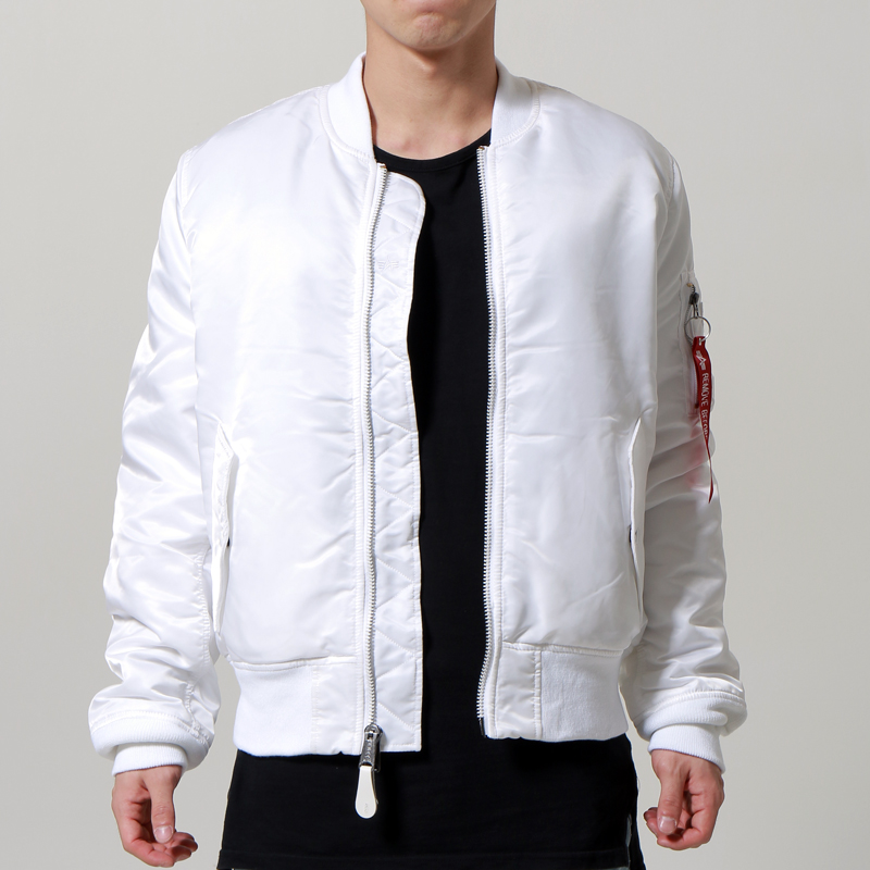 [마지막수량] [ALPHA INDUSTRIES] SLIM FIT MA-1 (WHITE)