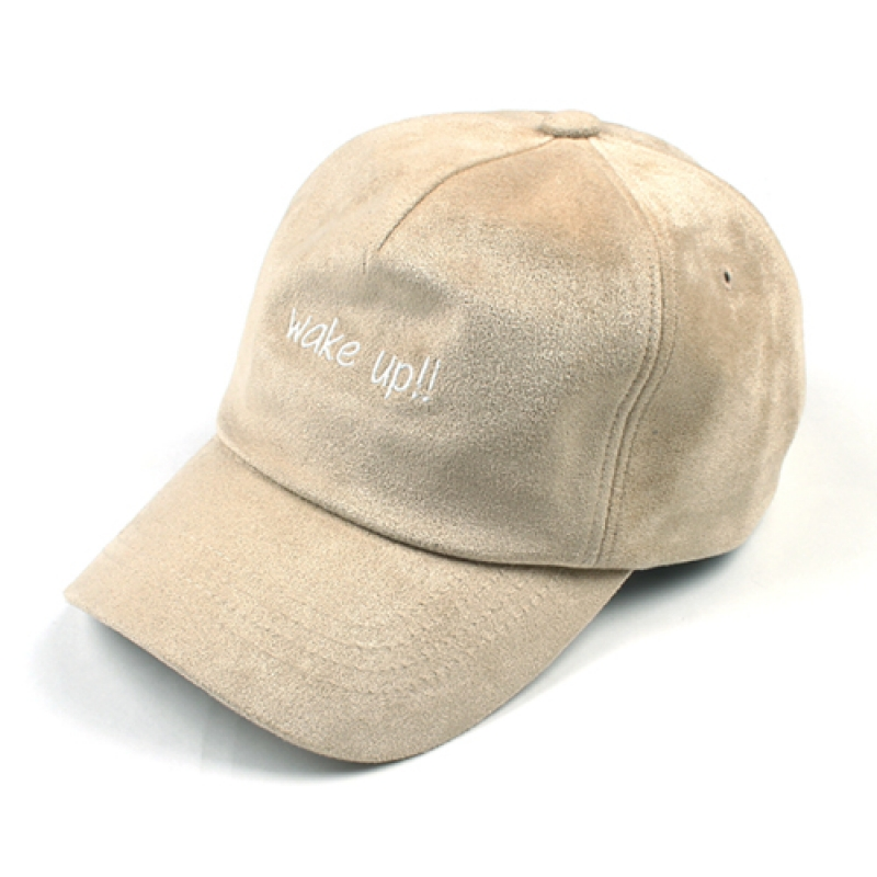 [MARCH WITH] WAKE UP SUEDE 5P CURVED CAP BEIGE