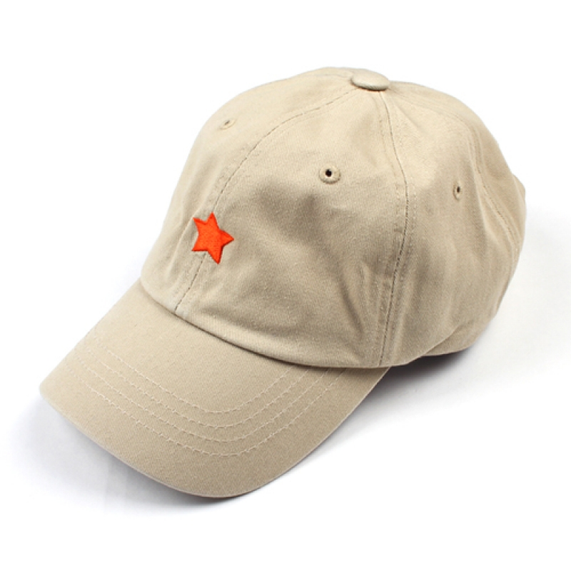 [MARCH WITH] ONE STAR 6P CURVED BALL CAP BEIGE