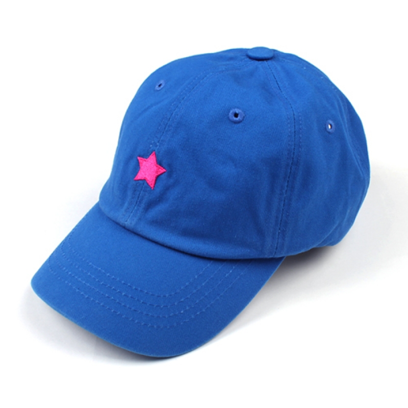 [MARCH WITH] ONE STAR 6P CURVED BALL CAP BLUE
