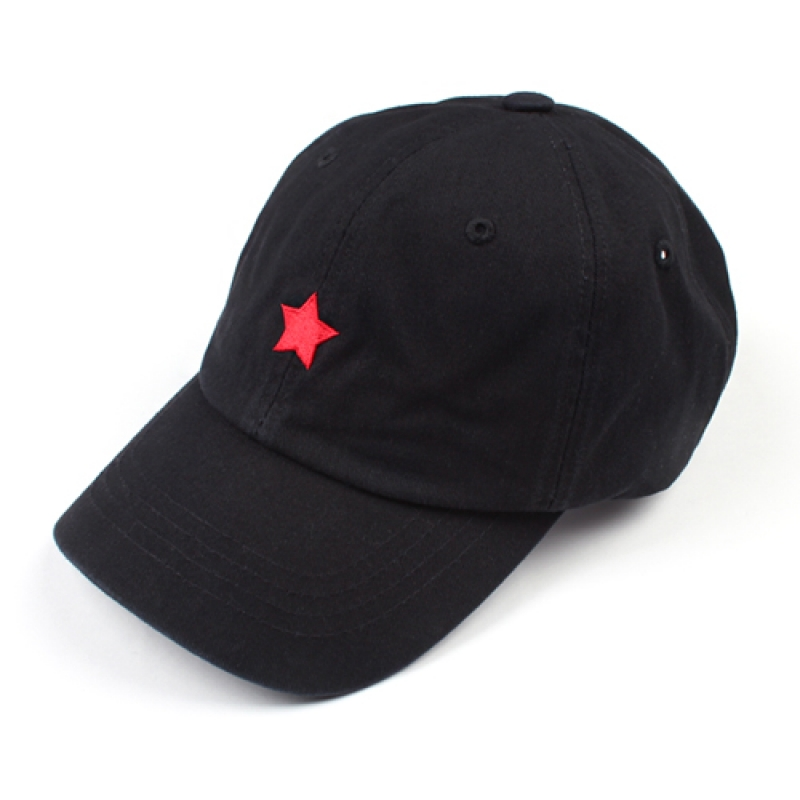 [MARCH WITH] ONE STAR 6P CURVED BALL CAP BLACK