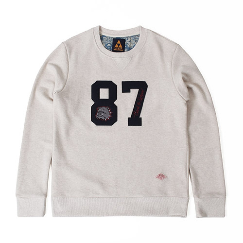 [GROSS INVENTORY] NUMBER CREWNECK(IVORY)