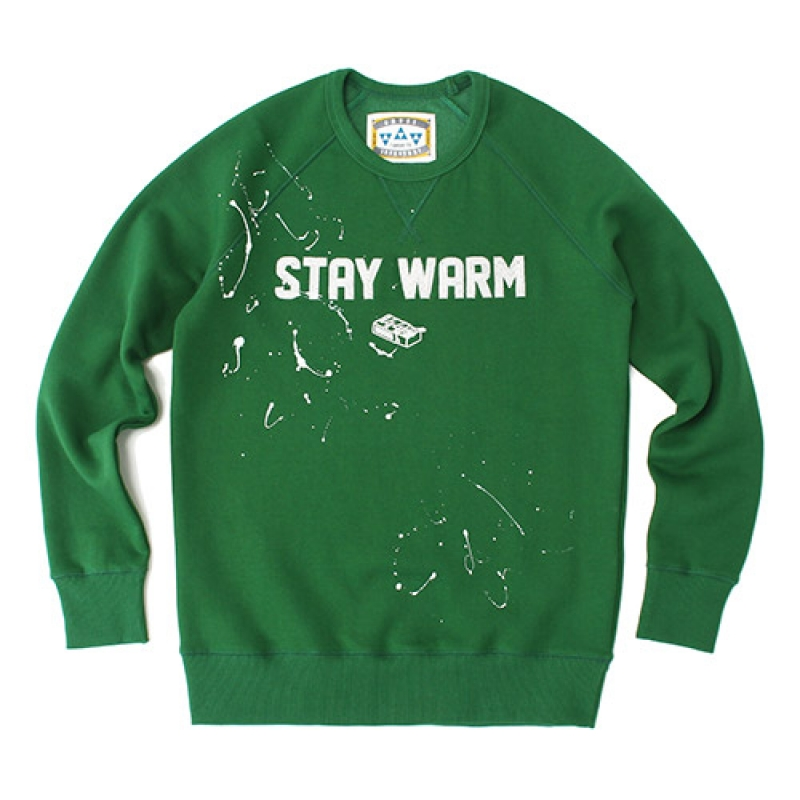[GROSS INVENTORY] STAY WARM CREWNECK (GREEN)