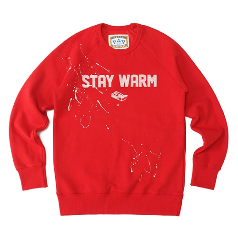 [GROSS INVENTORY] STAY WARM CREWNECK (RED)