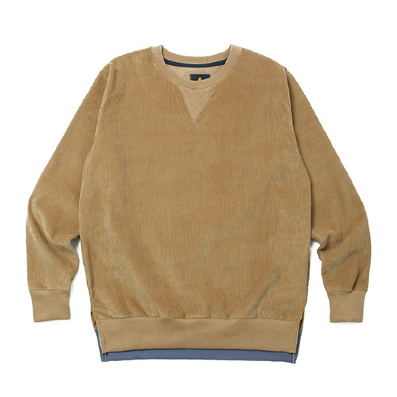 [GROSS INVENTORY] CORDUROY CREWNECK (BEIGE)