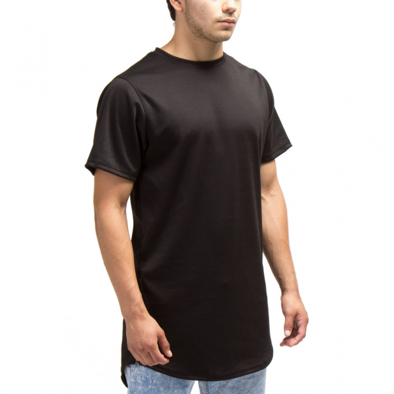 [COUP DE MAIN] ELONGATED ZIPPER TEE (BLACK)