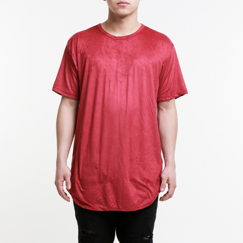 [$ SHOP SALE] [EPTM] KING BURGUNDY SUEDE OG LONG TEE