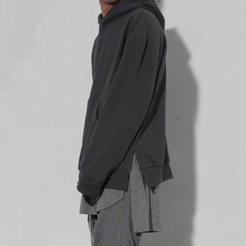 [BURJ SURTR] OS LAYERED HOODIE DIMGRAY
