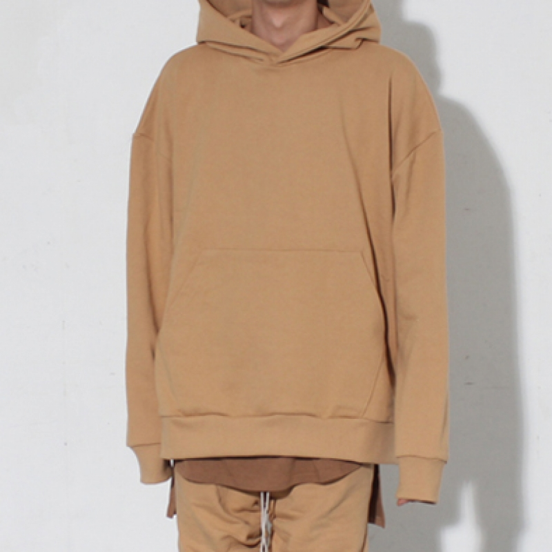 [BURJ SURTR] OS LAYERED HOODIE SAND