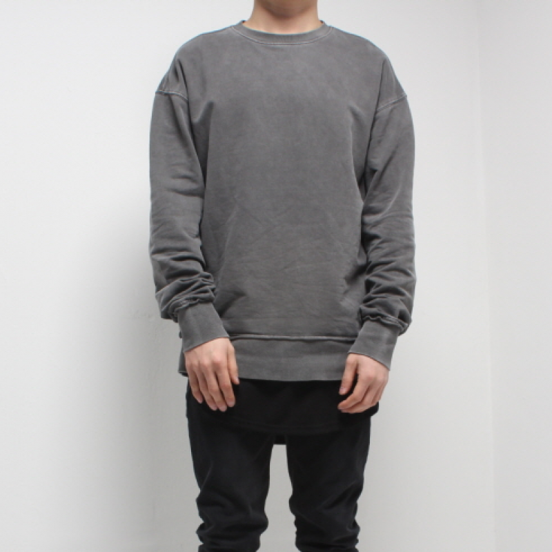 [FADE6] WASHED GREY SWEATSHIRT