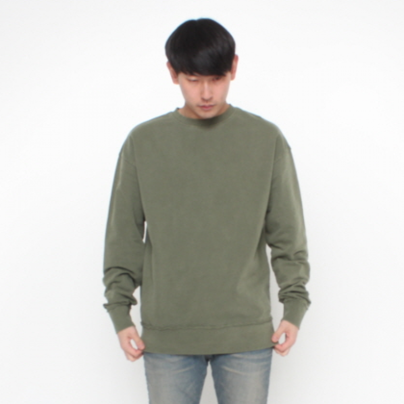 [FADE6] WASHED KHAKI SWEATSHIRT