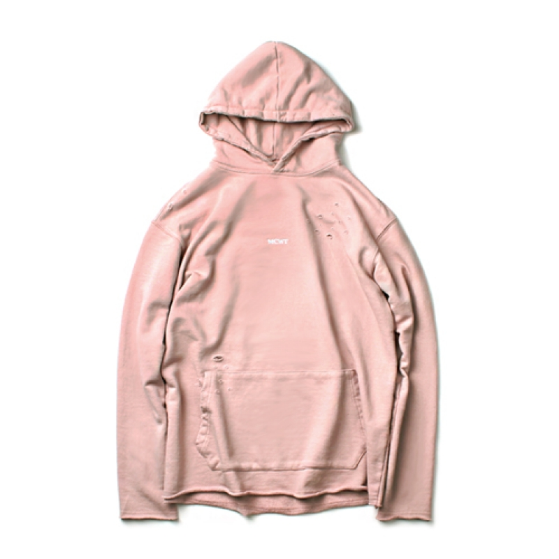 [MARCH WITH] NO WAVE DISTRESSED HOODIE INDI PINK