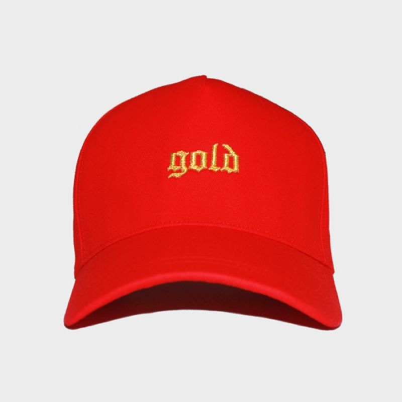 [OBH] GOLD SNAPBACK - RED