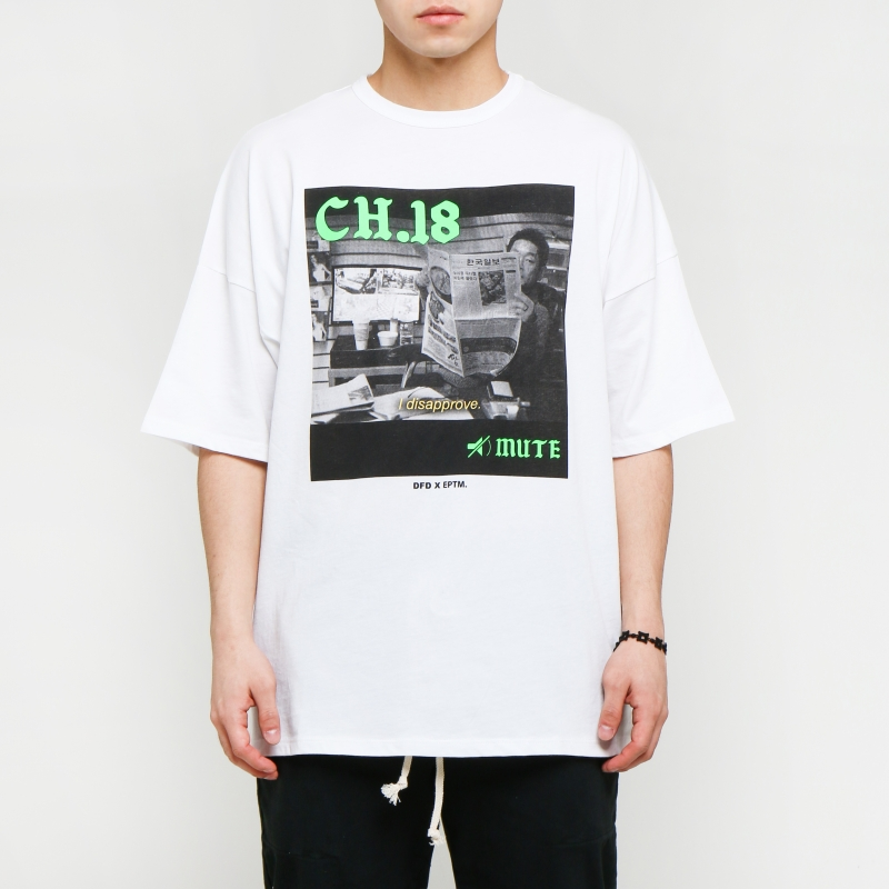 [1+1 EVENT] [$ SHOP SALE] [EPTM] PRINTED DROP SHOULDER TEE