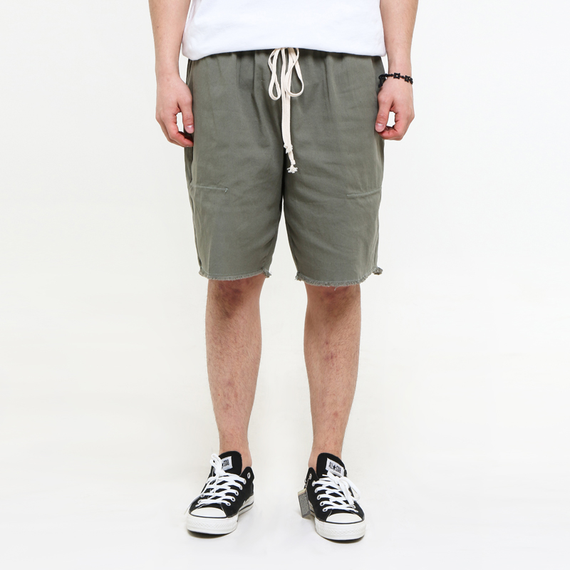 [EPTM] AVOCADO OLIVE CUT OFF SHORTS