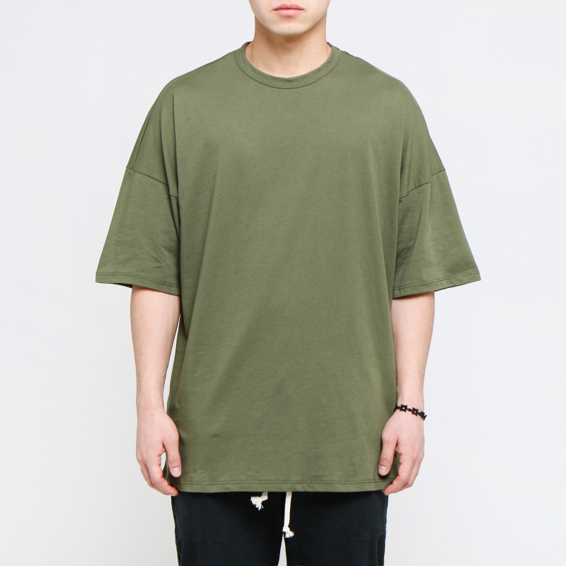 [EPTM] OLIVE DROP SHOULDER TEE