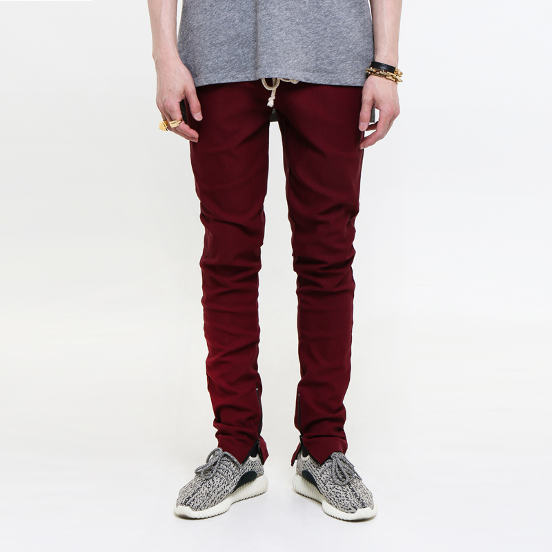 [$ SHOP SALE] [EPTM] ZIPPERED TRIBE BURGUNDY BREAK BEATS PANTS