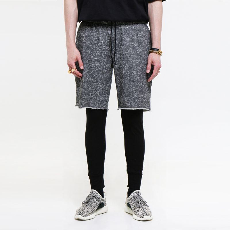 [EPTM] CHAR/BLK TERRY THERMAL PANTS