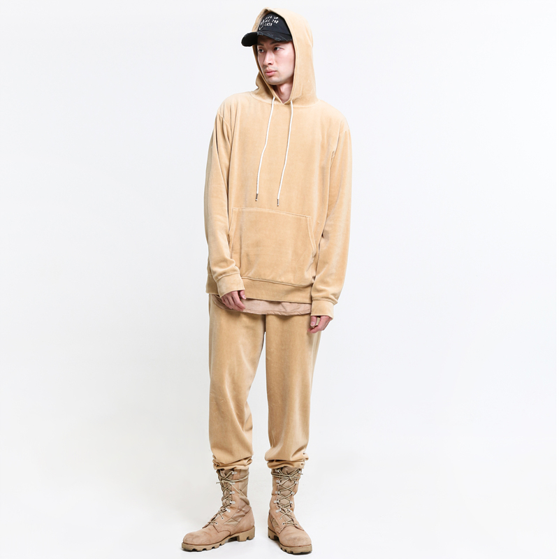 [ELWOOD] CAMEL VELOUR SWEAT SUIT