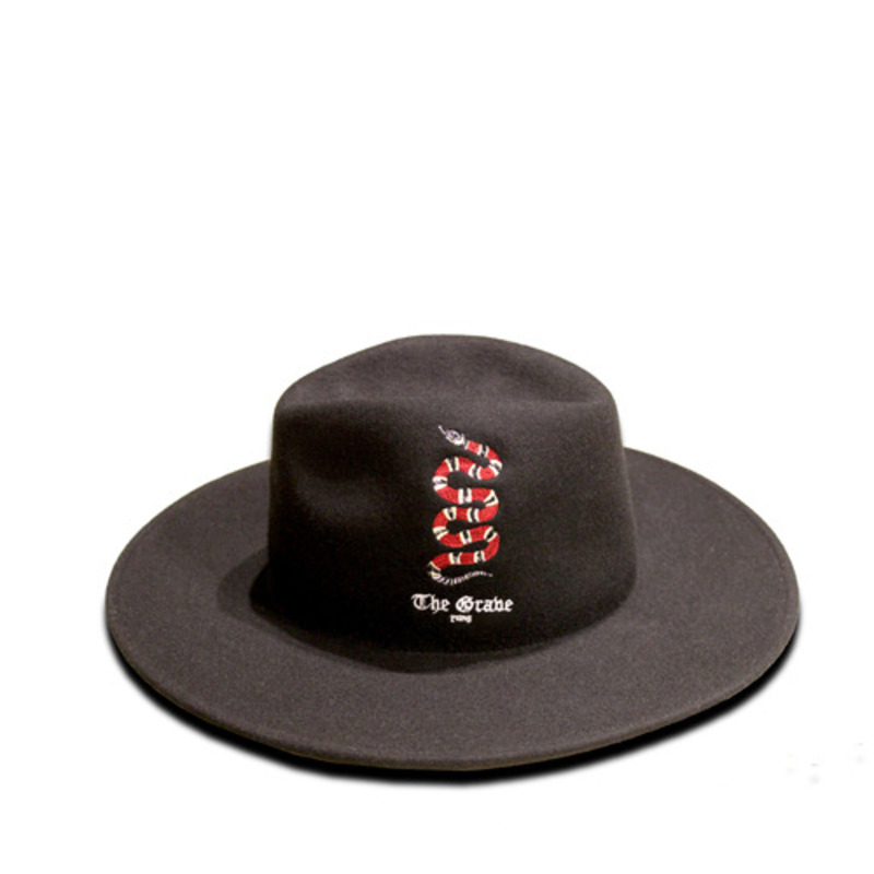 [THE GRAVE]SNAKE EMBROIDERY FEDORA