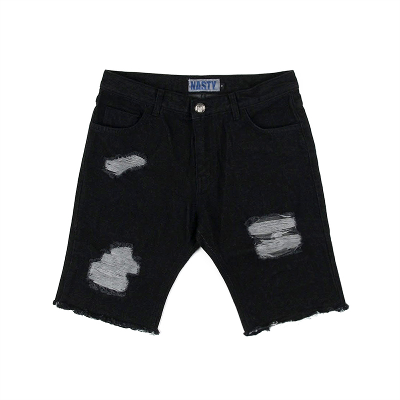 [NYPM] NXM DAMAGED SHORTPANTS (BLK)