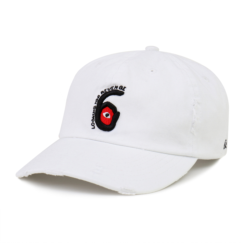 [$ SHOP SALE] [PESOSX] LOOKING FOR REVENGE HAT (WHITE)