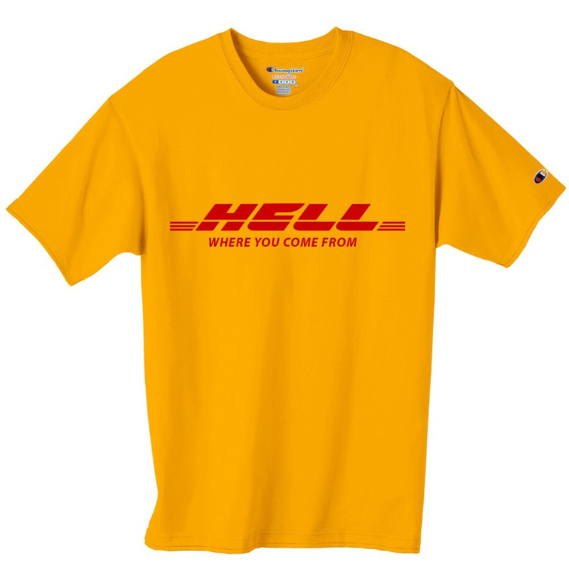 [PESOSX] HELL T-SHIRT (YELLOW)