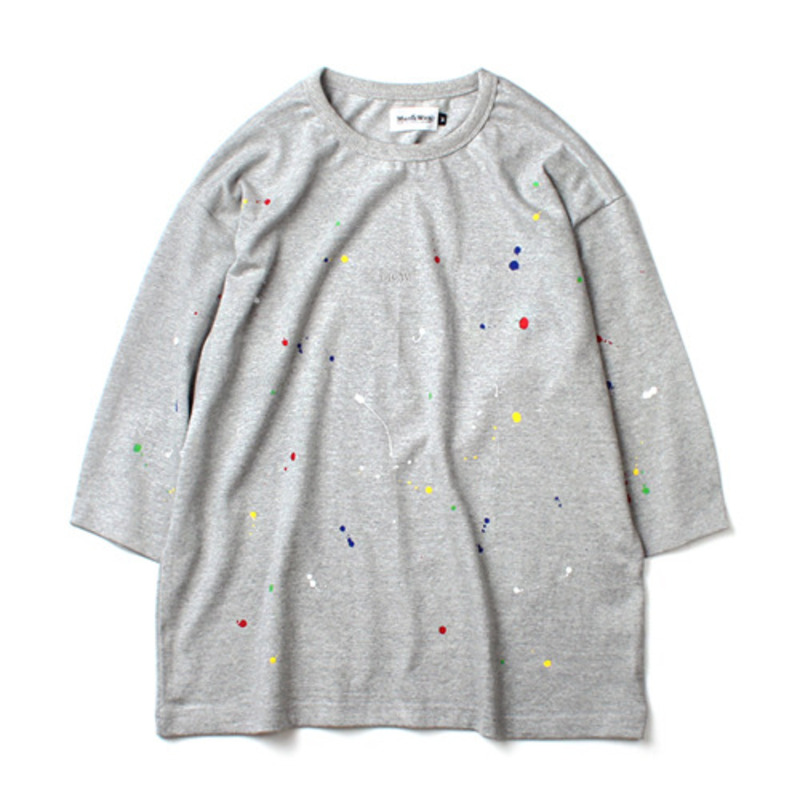 [MARCH WITH] 3/4 PAINTING WIDE FIT TEE GRAY