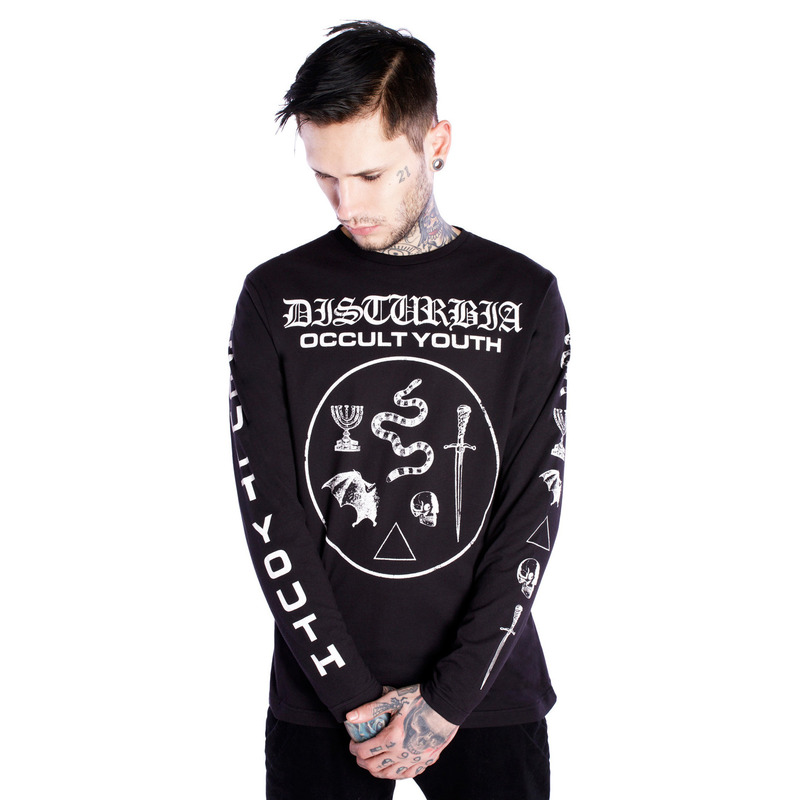 [DISTURBIA ] OCCULT YOUTH BLACK LONG TEE