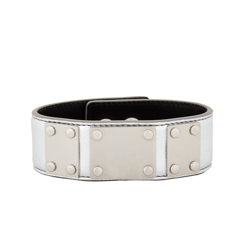 [SLP] SILVER LEATHER BRACELET
