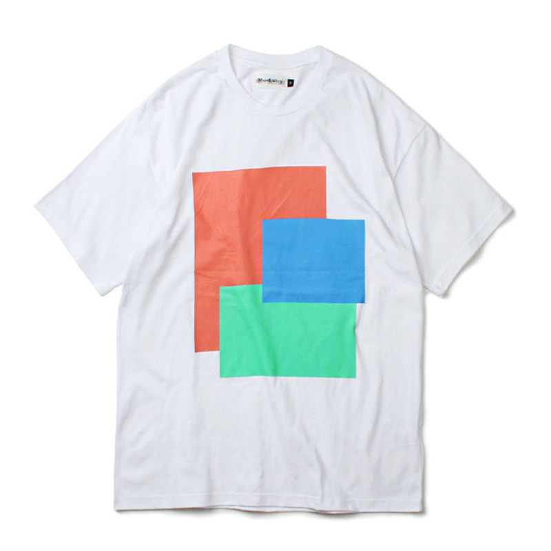 [MARCH WITH] FRAMES TEE WHITE