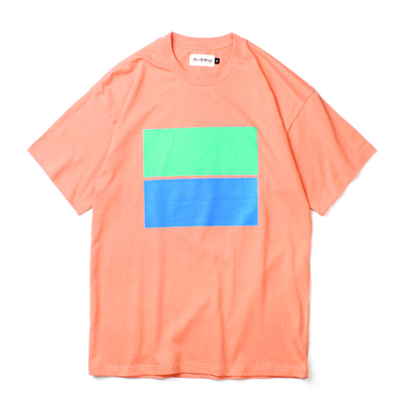 [MARCH WITH] PASTEL FLAG TEE PINK