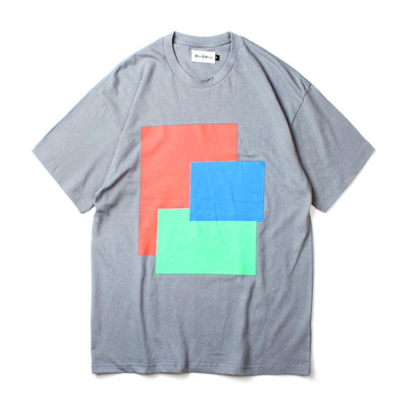 [MARCH WITH] PASTEL FLAG TEE BLUE