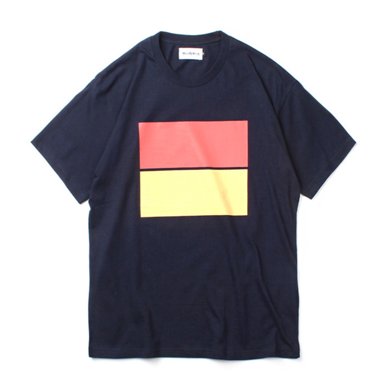 [MARCH WITH] PASTEL FLAG TEE NAVY