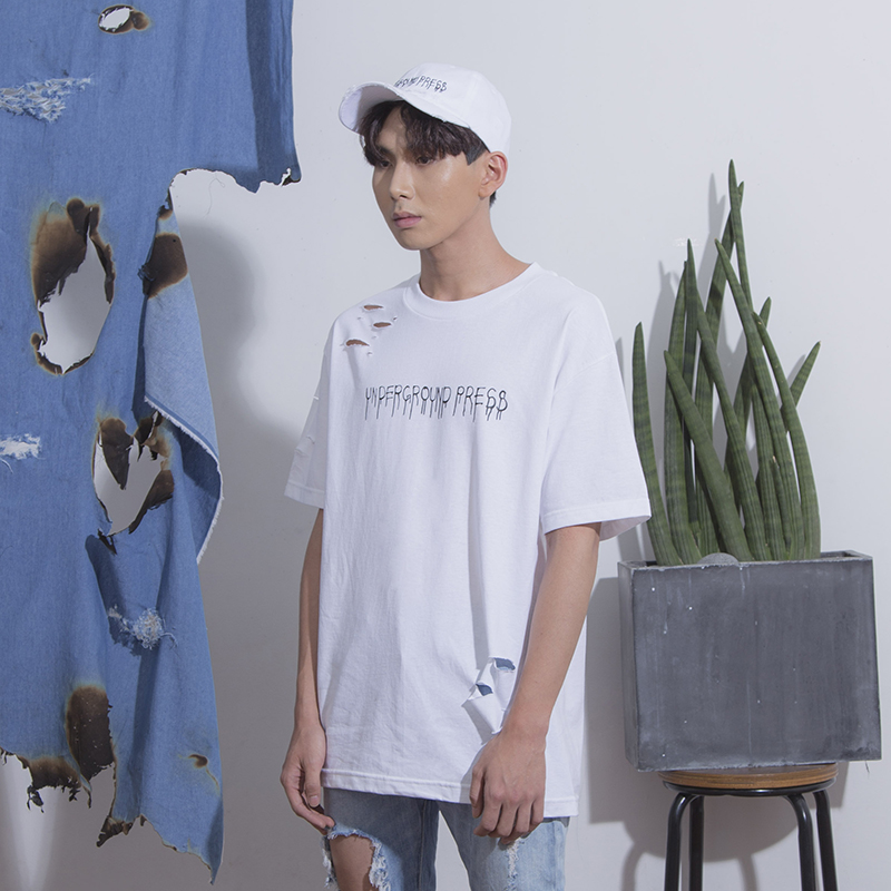 [KRAP] UNDERGROUND PRESS DESTROYED T-SHIRTS WHITE