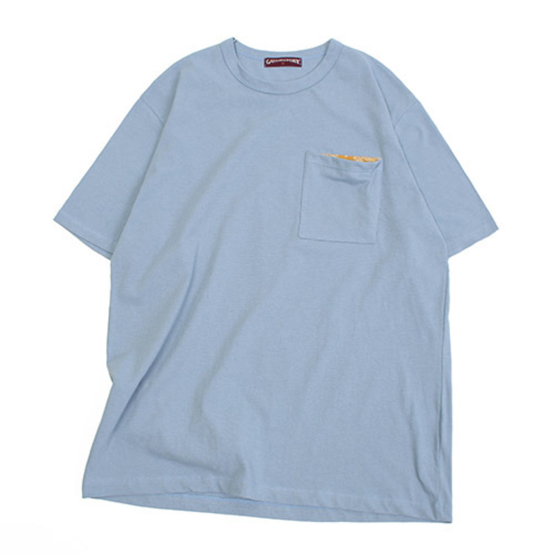 [GROSS INVENTORY]PAISLEY POCKET T-SHIRTS (SKY BLUE)