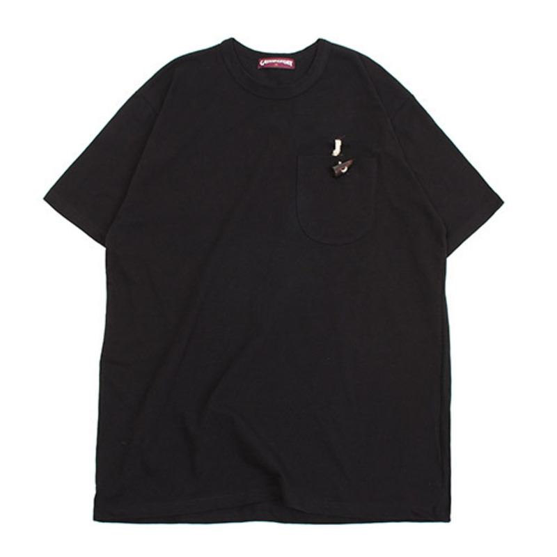[GROSS INVENTORY]TOGGLE POCKET T-SHIRTS (BLACK)