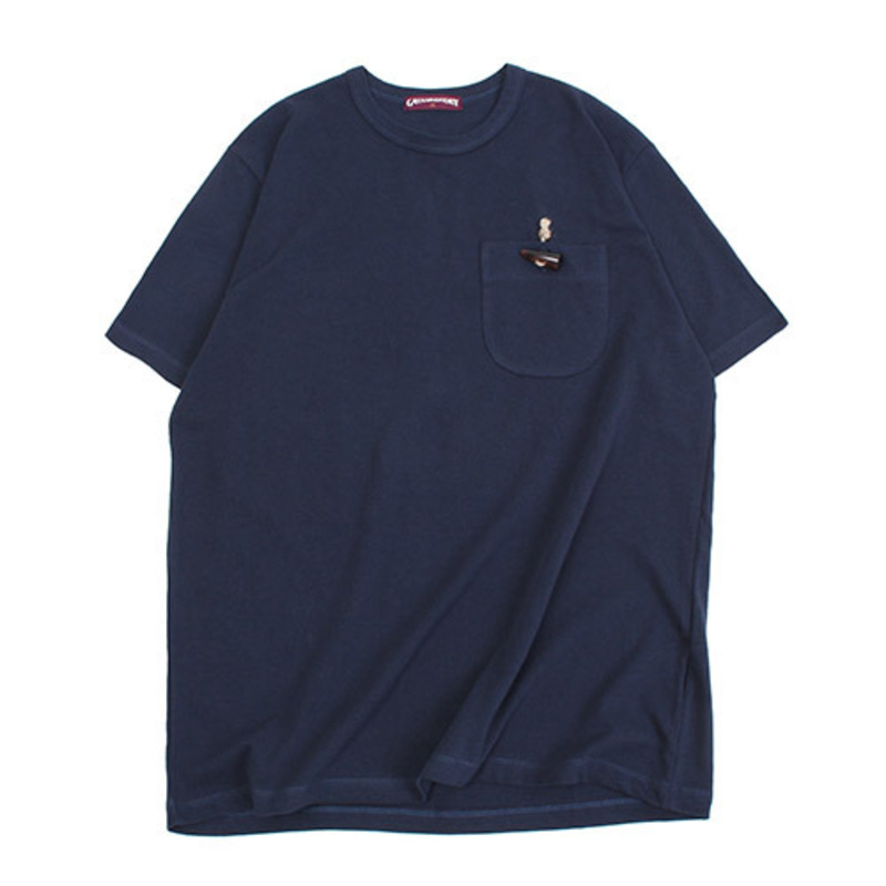 [GROSS INVENTORY]TOGGLE POCKET T-SHIRTS (NAVY)