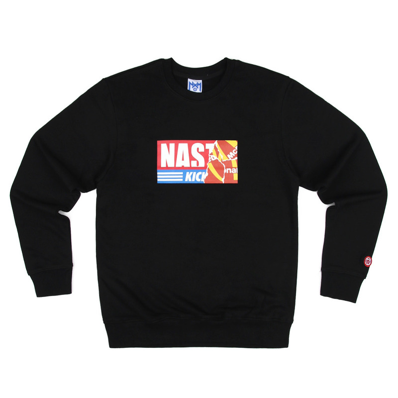 [NASTY PALM] NASTY KICK BIG SWEATSHIRTS (BLK)