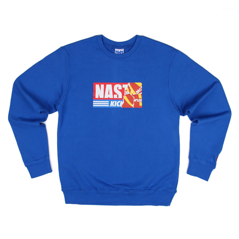 [NASTY PALM] NASTY KICK BIG SWEATSHIRTS (BLUE)